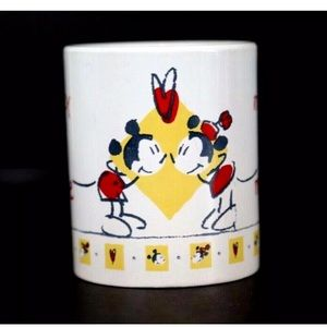 Disney Mickey Minnie Mouse Valentines Coffee Mug
